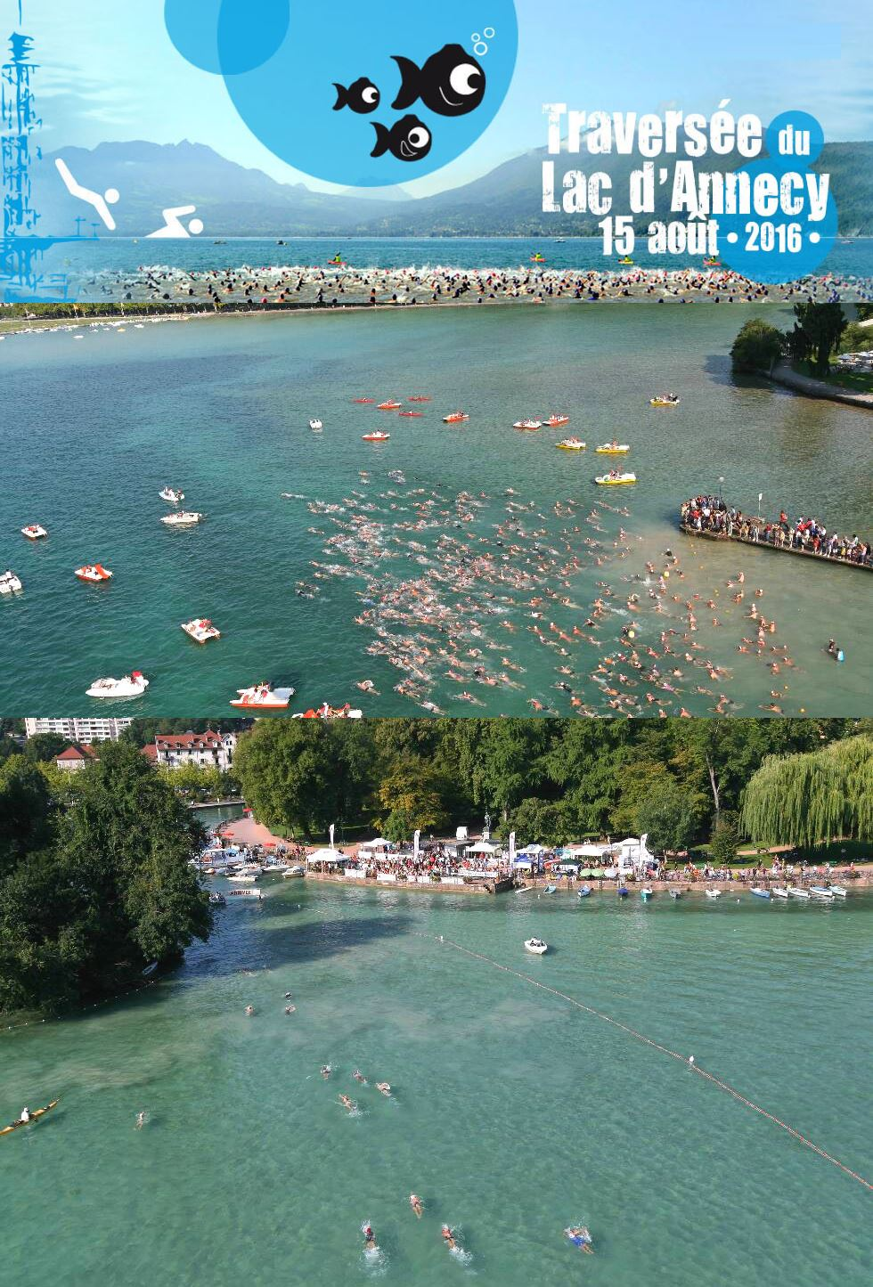 22th stage of the French open-water Cup 2016 at Annecy