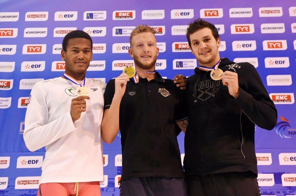 French 2015 Championships (SC) in Angers : Axel wins Bronze medal on 1 500 m