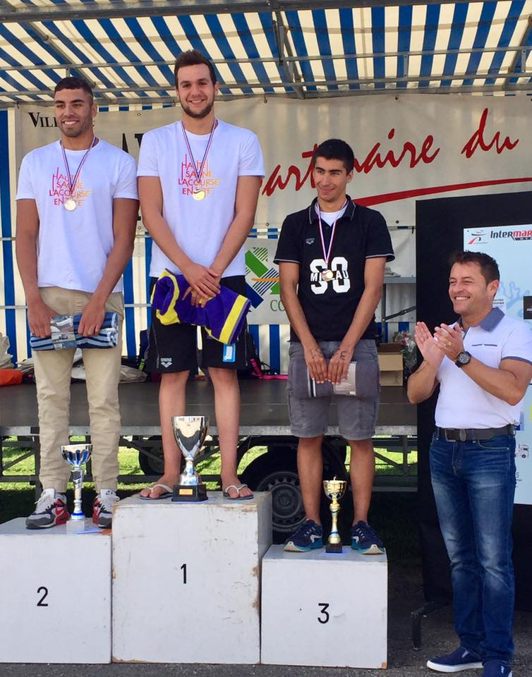 20th and 21th stages of the French open-water Cup 2017 at Gray