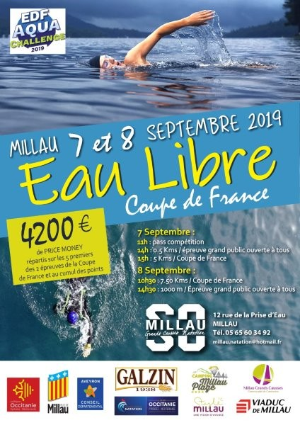 37th and 38th stages of the French open-water Cup 2019 at Millau