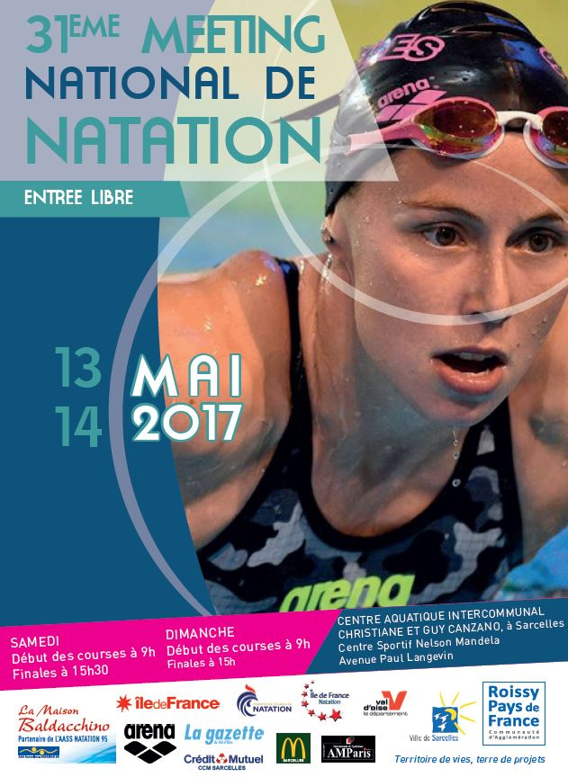 31ème Meeting National de Natation Sarcelles Roissy Pays de France