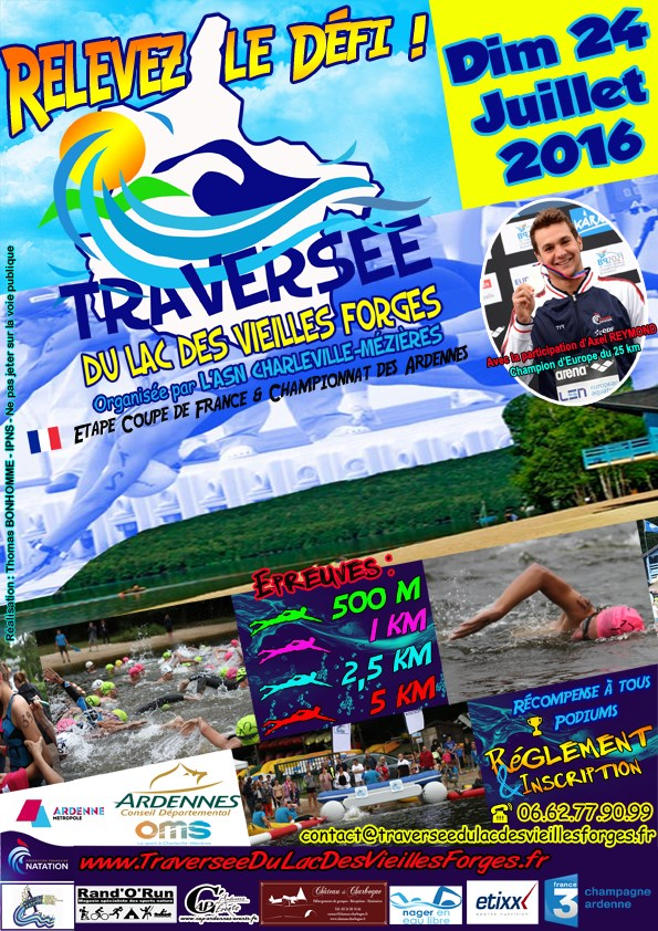 17th stage of the French Open-Water Cup 2016 at the lake of Vieilles Forges